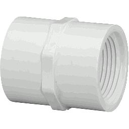 "430-005 - PVC Threaded Couplings 1/2"" x 1/2"" (FxF)"