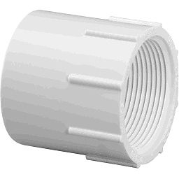 "435-005 - PVC Female Adapter 1/2"" x 1/2"" (SxF)"