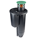 "Hunter STG-900-73 3"" pop-up, top service, adjustable arc, plastic riser, ACME inlet threads, and 2 nozzles"