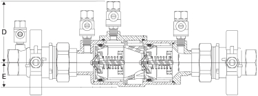 Febco 850U Diagram (Side View)