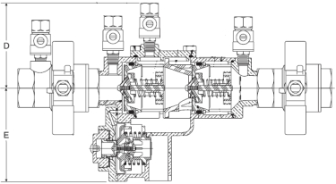 Febco 860 Diagram (Side View)