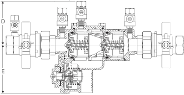 Febco 860U Diagram (Side View)