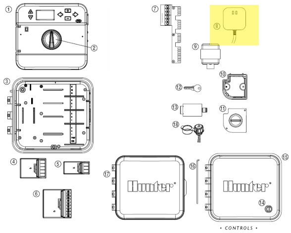 hunter 526500 replacement part for pc 300i transformer Hunter Pro C Wiring Diagram click to enlarge hunter pro c wiring diagram